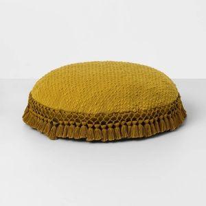 OPALHOUSE NEW round crocheted toss pillow